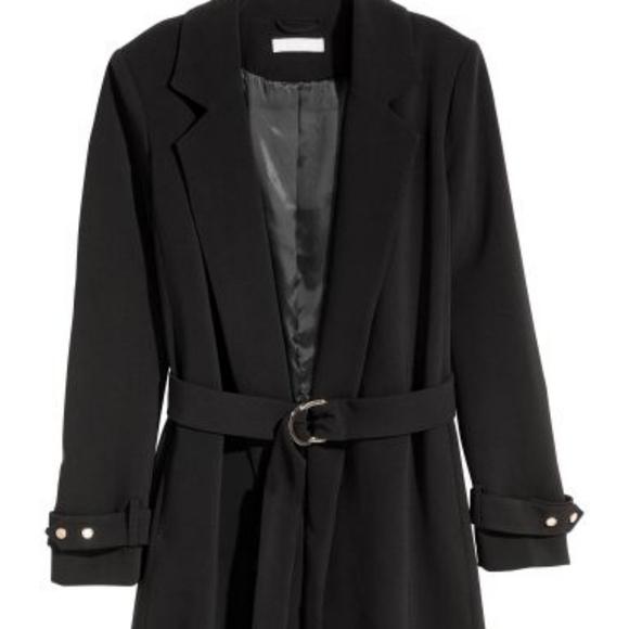 NWOT H&M Black Blazer Coat Midi